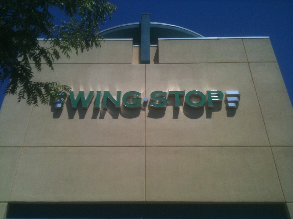 Pan Channel Letters - The Wing Stop