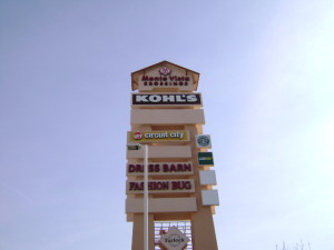 Pylon Signs - Monte Vista Crossings Shopping Center