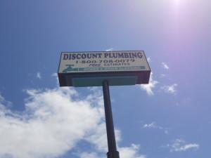 Pole Sign - Discount Plumbing Manteca