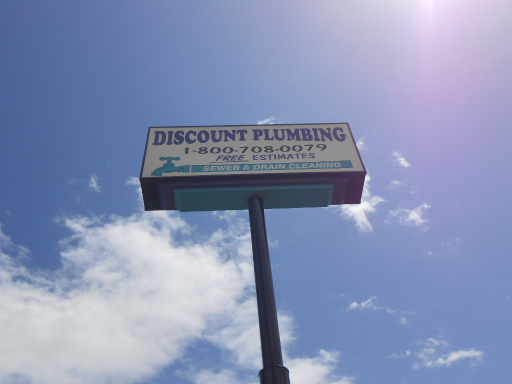 Pole Sign - Discount Plumbing Manteca