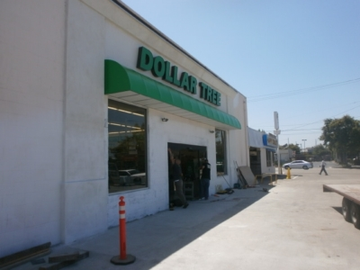 Awning - Dollar Tree