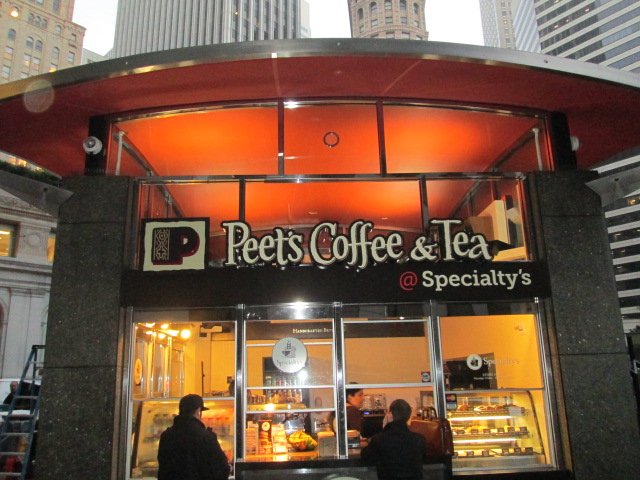 Custom Signs - Peet's Coffee & Tea