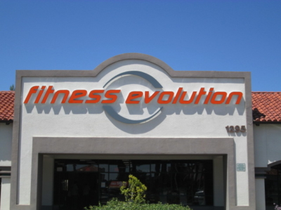 Pan Channel Letters - Fitness Evolution