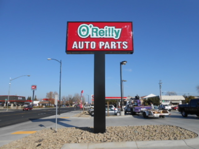 Pole Sign - O'Reilly Auto Parts Oakdale