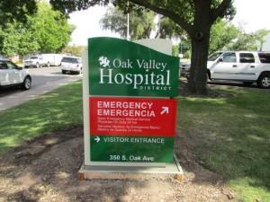 Monument Sign -Oak Valley Hospital
