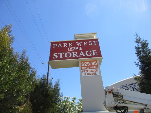 Pole Sign - Park West Self Storage Stockton
