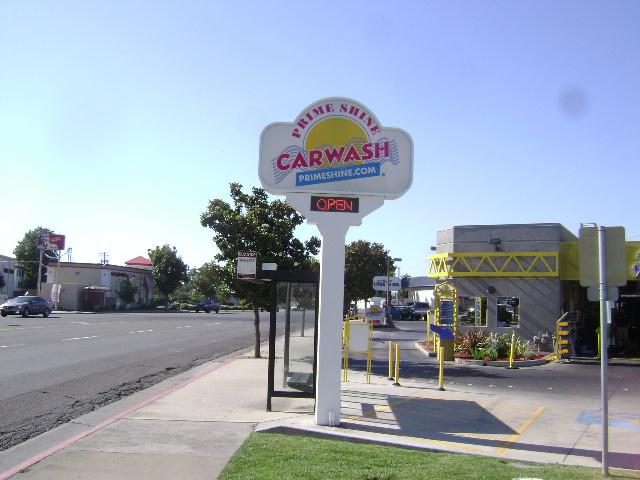 Pole Sign - Prime Shine Car Wash