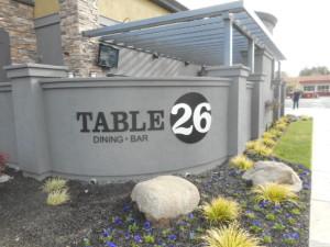 Flat Cut Sign - Table 26