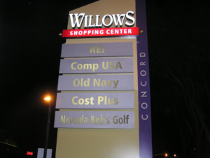 Pylon Sign - Willows