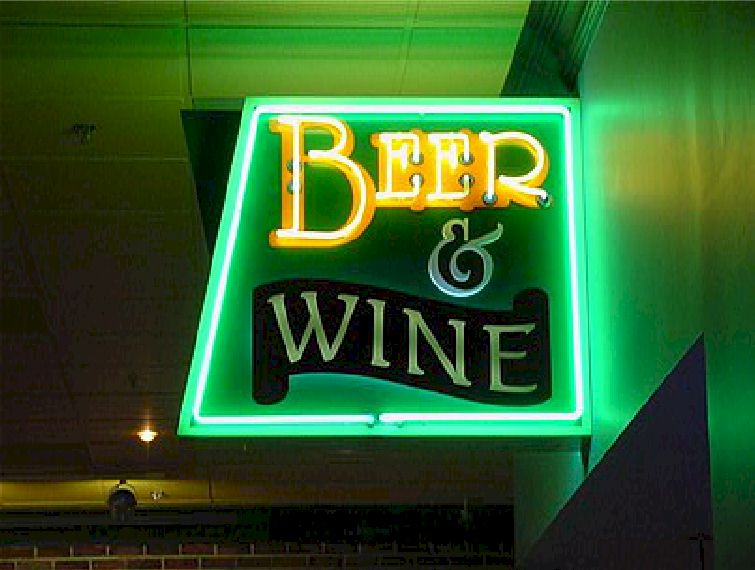 Open Face Neon - Beer & Wine