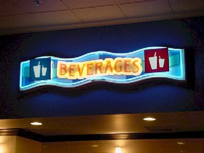 Open Face Neon - Beverages