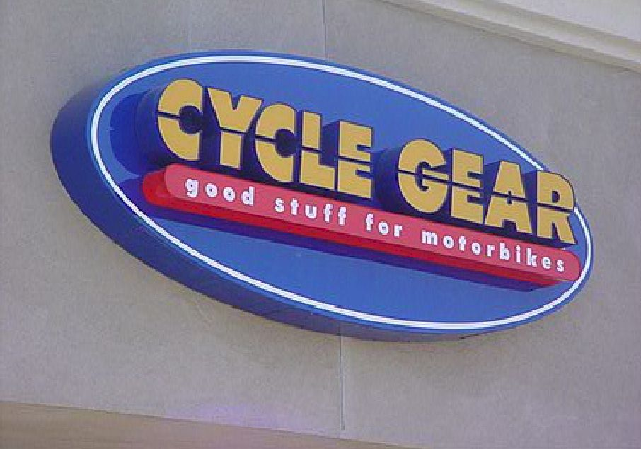 Pan Channel Letters - Cycle Gear