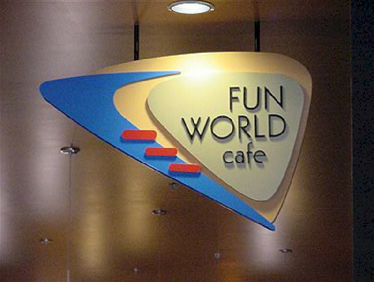 Custom Signs - Fun World Cafe