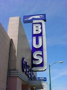 Custom Signs - Greyhound Bus