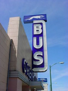 Custom Signs - Greyhound Bus