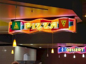 Open Face Neon - Pizza