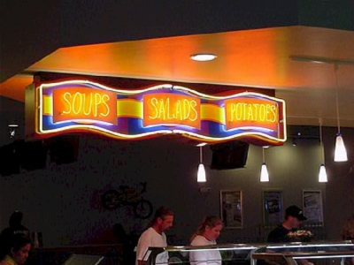 Custom Signs - Soups Salads Potatoes