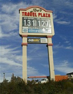 Pylon Signs - Joe's Travel Plaza