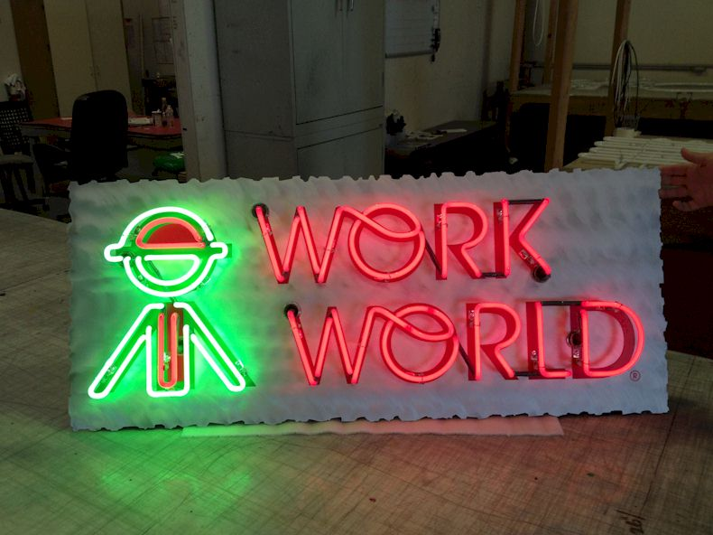Open Face Neon - Work World